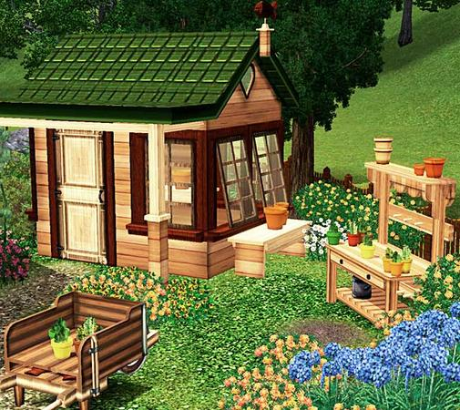 Victorian Backyard Structures : My Sims 3 Blog cashcrafts Victorian Garden Shed