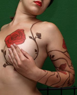 Breast Tattoo Ideas for Girls - Flower Tattoos