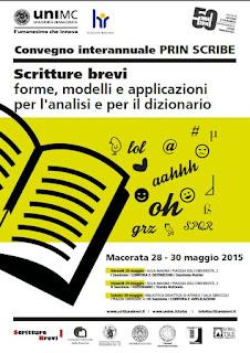 Manifesto del convegno Scritture brevi