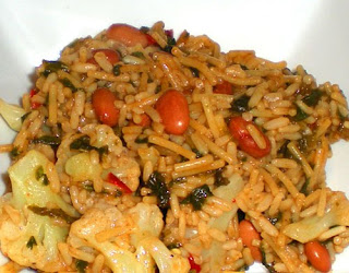 Vegetarian Dirty Rice with Pinto Beans