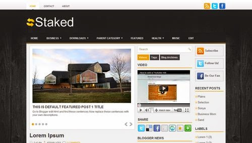 Staked - Free Blogger Template
