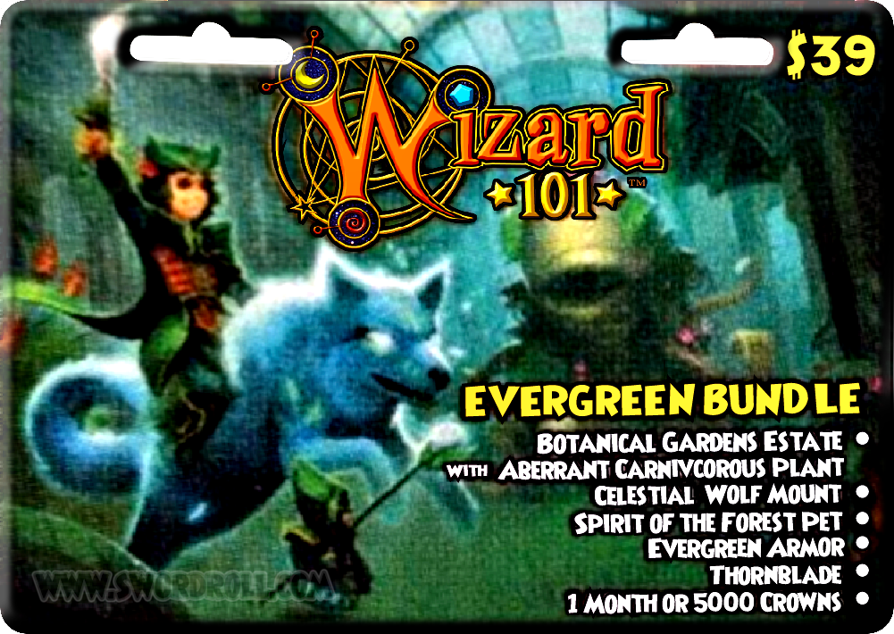 Wizard101 Evergreen Bundle Card Image