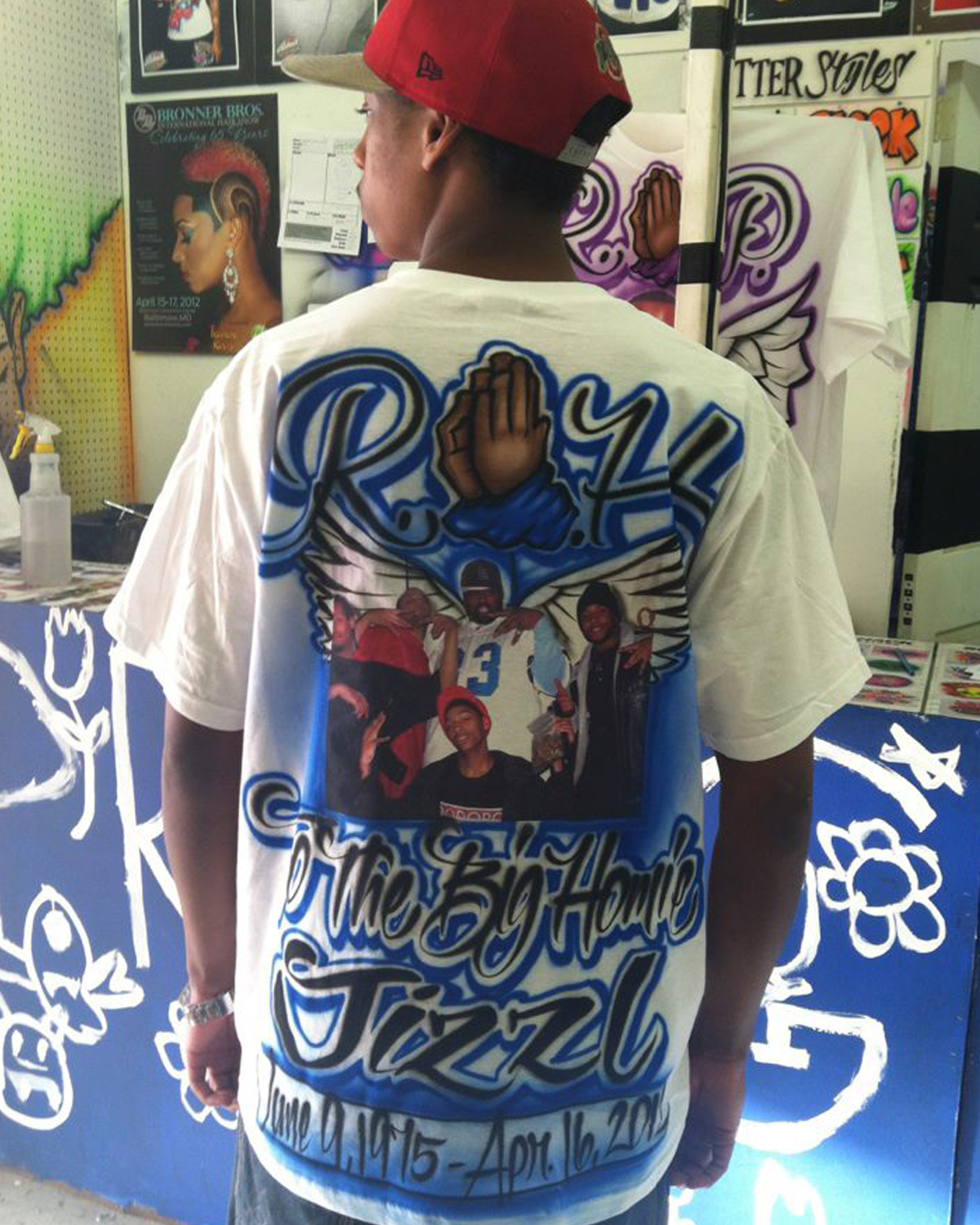 Airbrush T Shirt Designs | Airbrushed Rip Memorial Designs By Sugaray Starting At 35 Sugar
