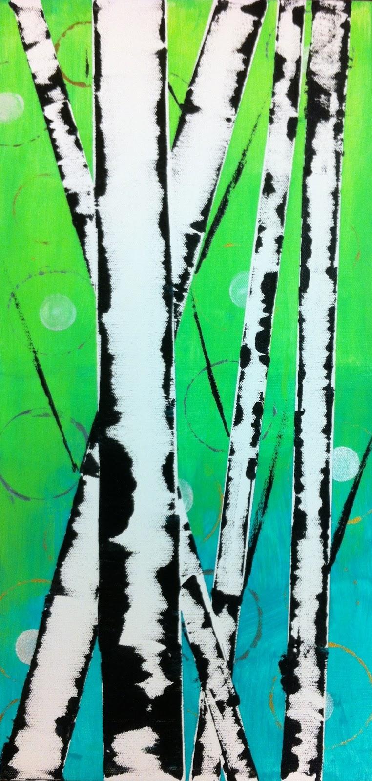 angela anderson art blog easy birch trees kid u0027s art class