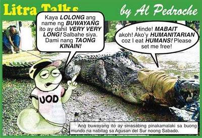 Lolong Buwaya caricature