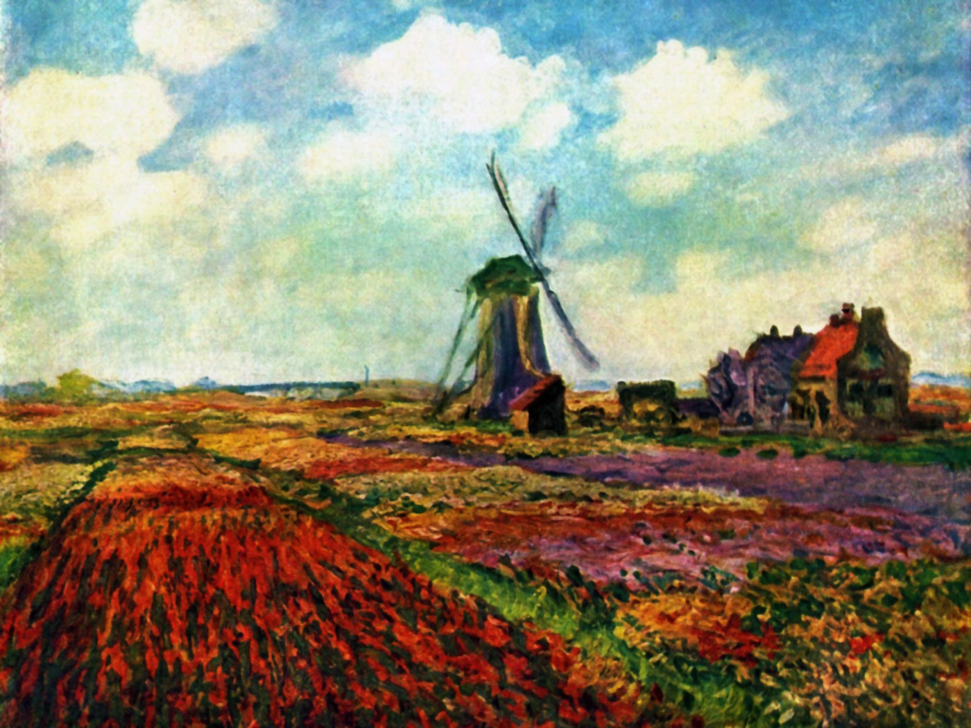 Intelliblog art sunday monet 39 s tulip fields for Monet paintings images