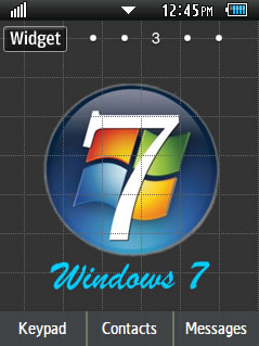 General Windows 7 Samsung Corby 2 Theme Wallpaper