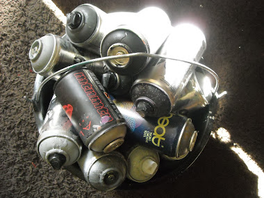 bucket full of cans