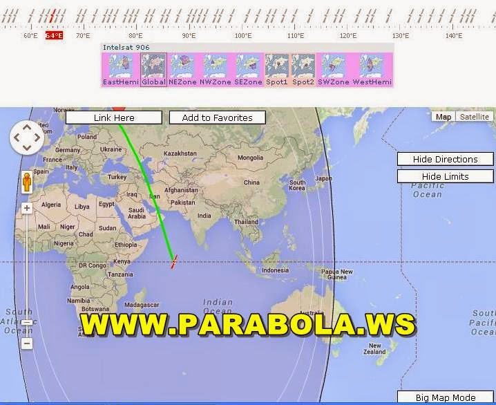 satelit parabola beam Indonesia intelsat 906 c band