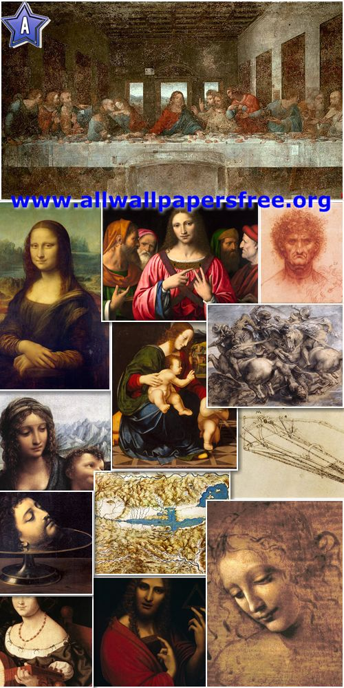 200 Leonardo da Vinci Artworks and Drawings [Up to 18000 Px]