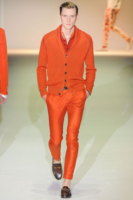 Male model Bas­ti­aan Ninaber S/S 2013 Gucci