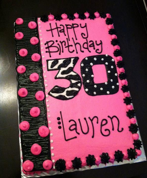 Sweet Treats By Susan Happy 30th Birthday Cake