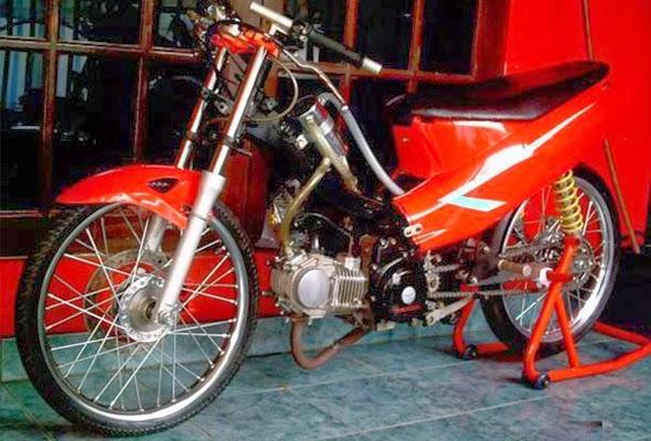 Gambar Modifikasi Motor Suzuki Smash Keren