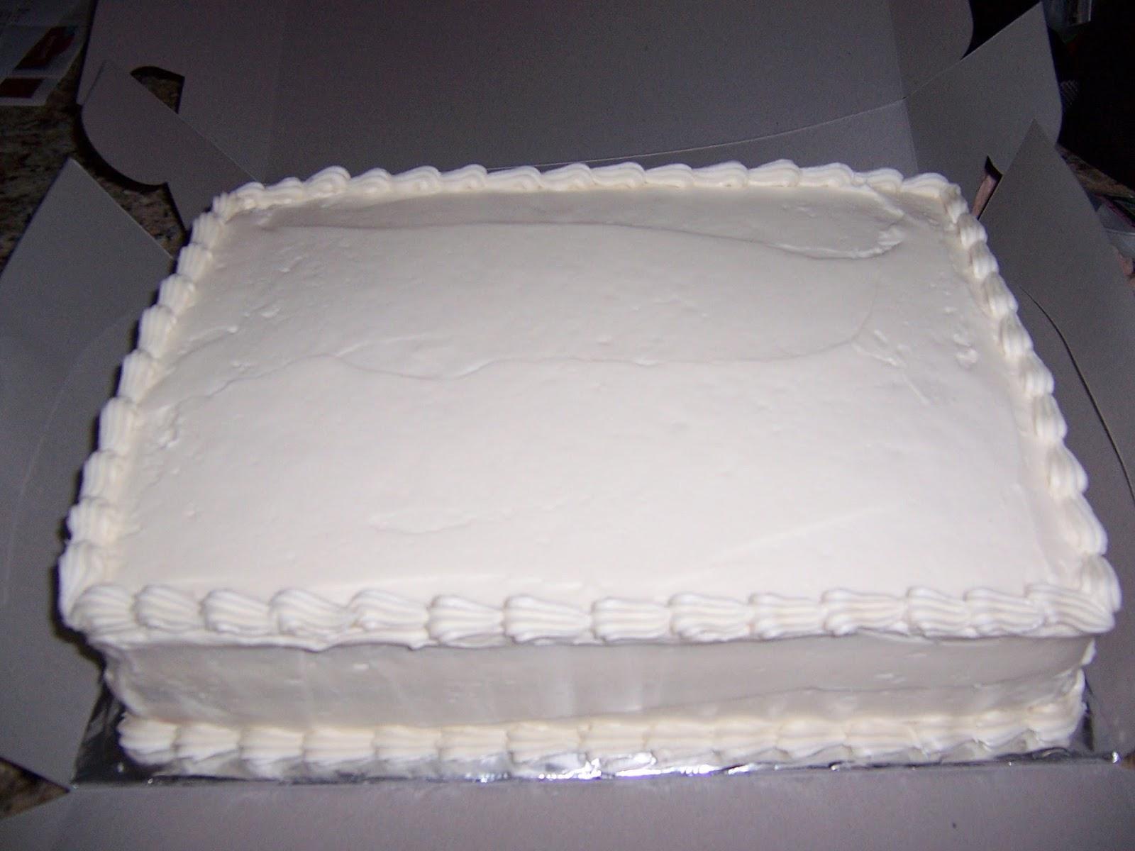 Plain white sheet cake