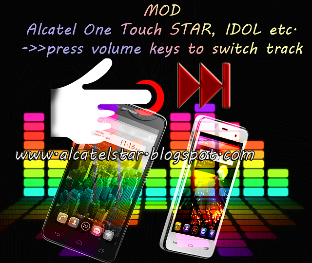 long press skip songs for alcatel star, idol, xpop, mpop, spop