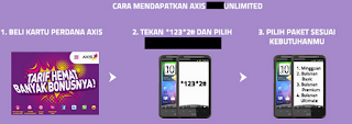 Aktivasi Paket Internet Axis Unlimited