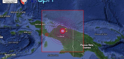 FUERTE TERREMOTO DE 7,0 GRADOS GOLPEA PAPUA, INDONESIA