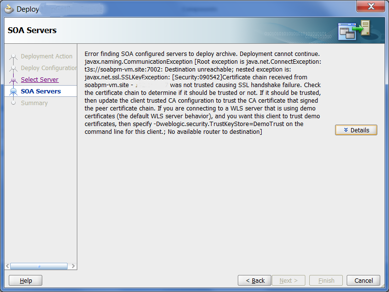 Sathyas Tech Blog Jdeveloper Deployment To Ssl Configured Weblogic