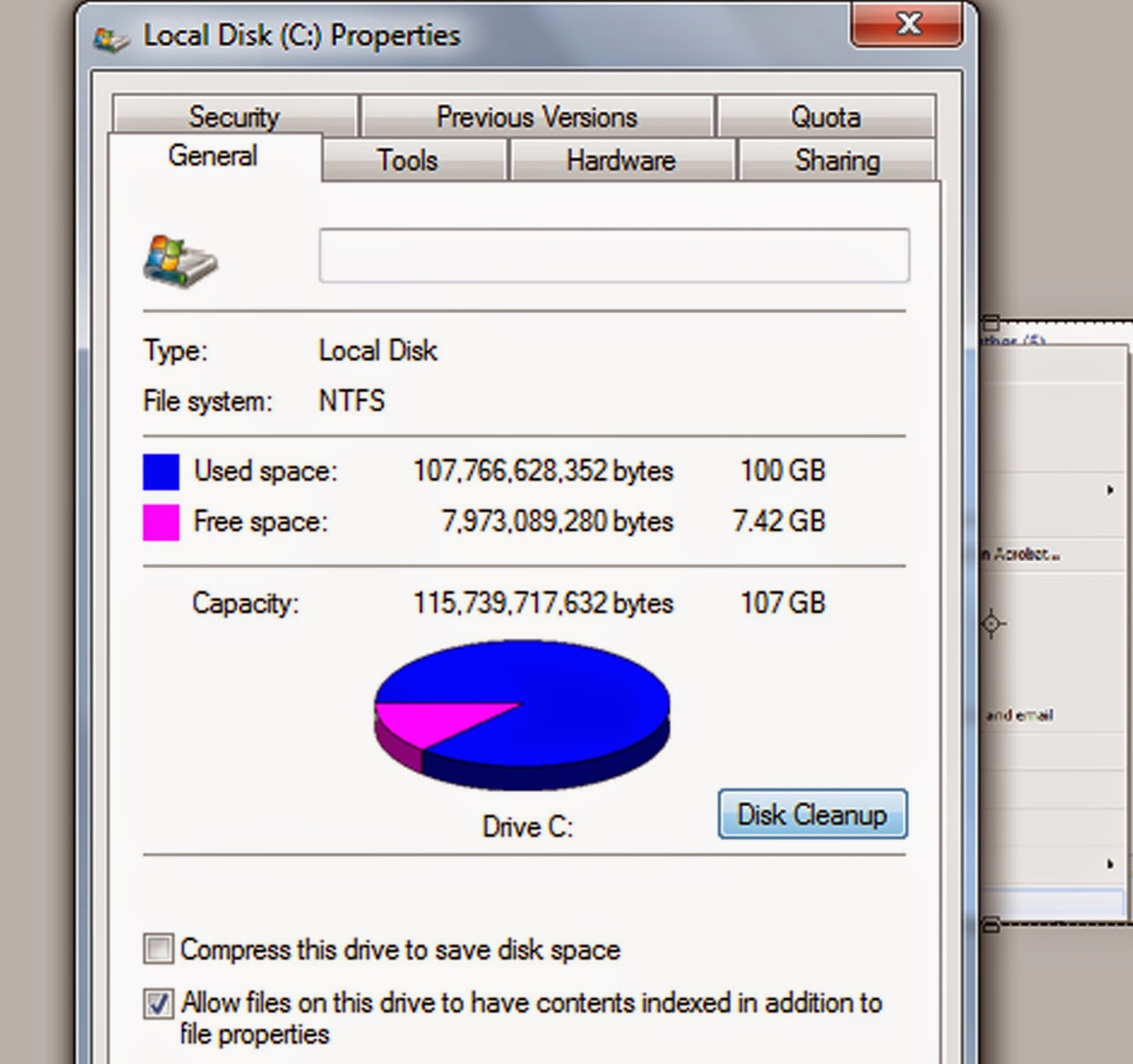 how to clean up local disk c windows 7