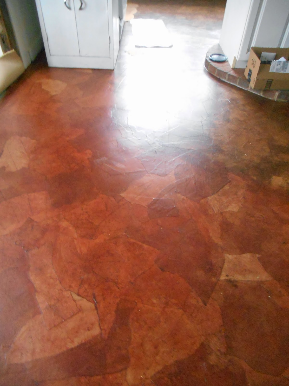 Living designs a paper bag floor over asbestos linoleum dailygadgetfo Images