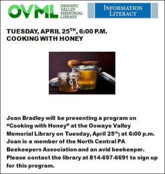 4-25 OVML Cooking With Honey