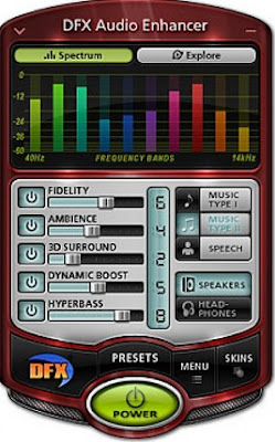 برنامج تضخيم الصوت DFX Audio