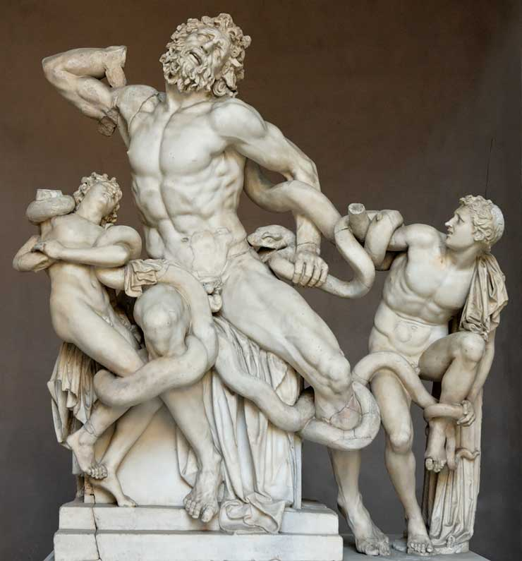 """Laocoon,"" discovered in Rome in 1506"