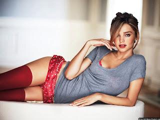 Miranda kerr Hot Blue And Red Bikini