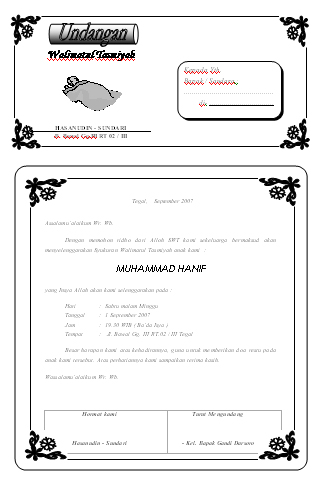 Download Template Undangan Aqiqah Syukuran Free Design Templates