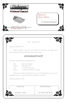 Preview Template Undangan Aqiqah (Syukuran)
