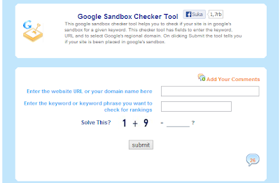Blog kita terkena Google Sanbox atau tidak ya?