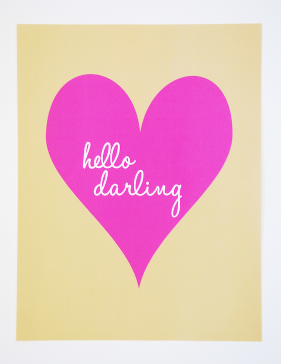 hello darling print