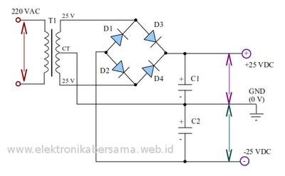 rangkaian-catudaya-ocl-amplifier