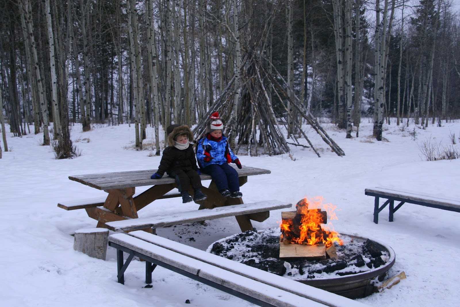 Family Adventures in the Canadian Rockies: Winter camping ...