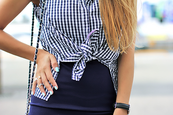 gingham women shirt