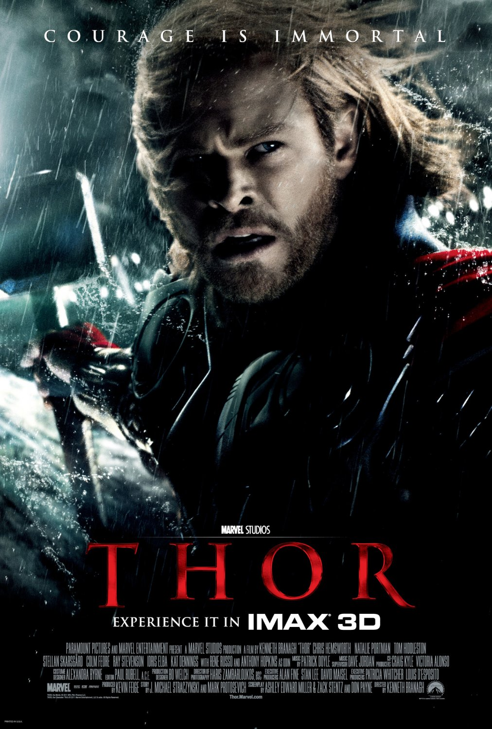 Thor theatrical one sheet movie poster