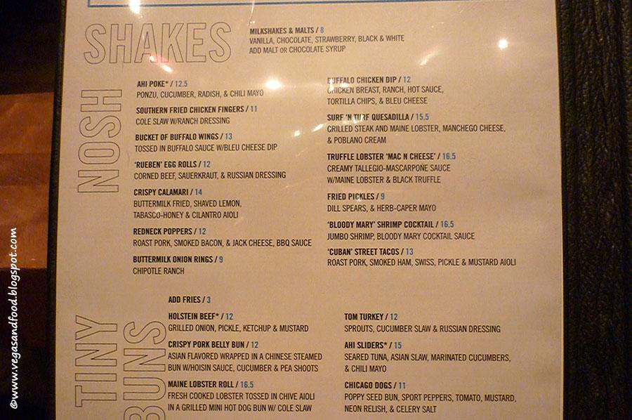 holsteins las vegas menu
