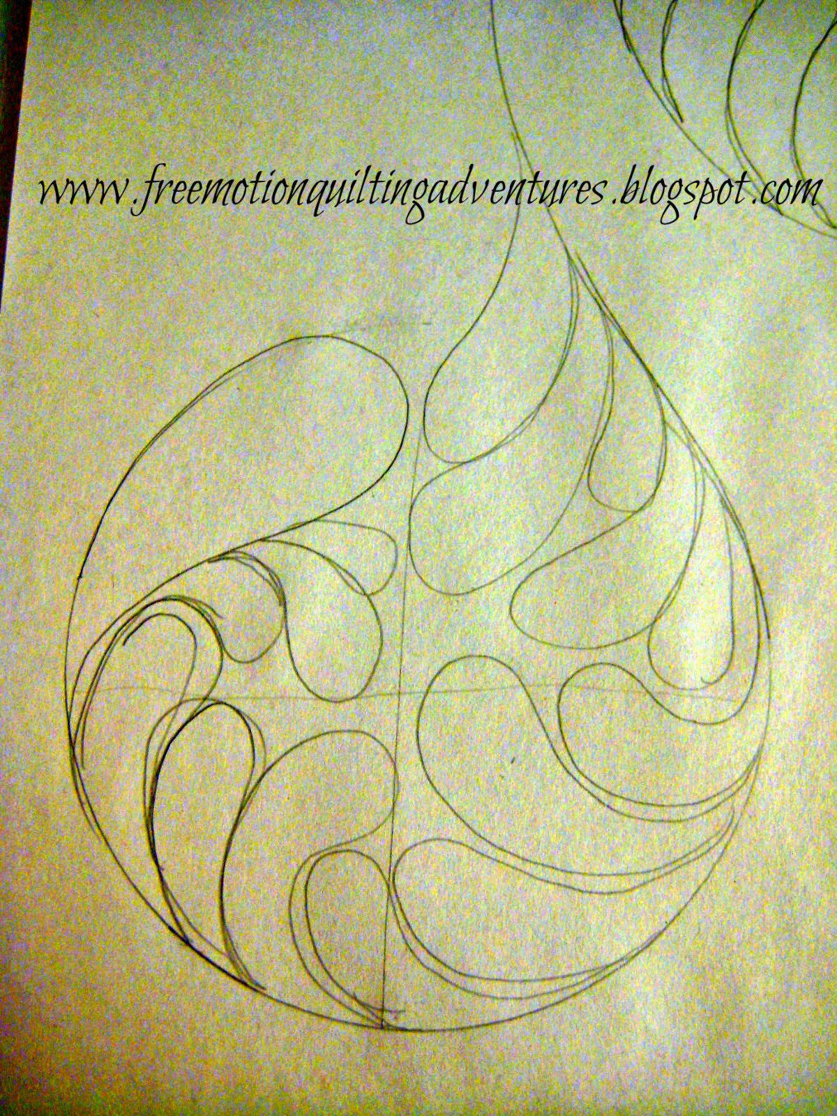 doodle the design before quilting