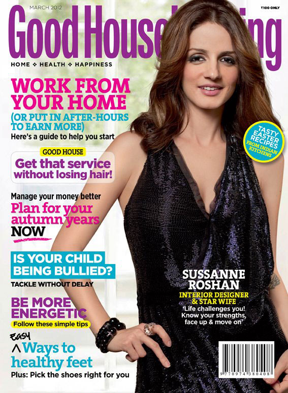 Suzzane Khan roshan on Good Housekeeping Magazine cover - Sussanne Roshan on Good Housekeeping Magazine cover