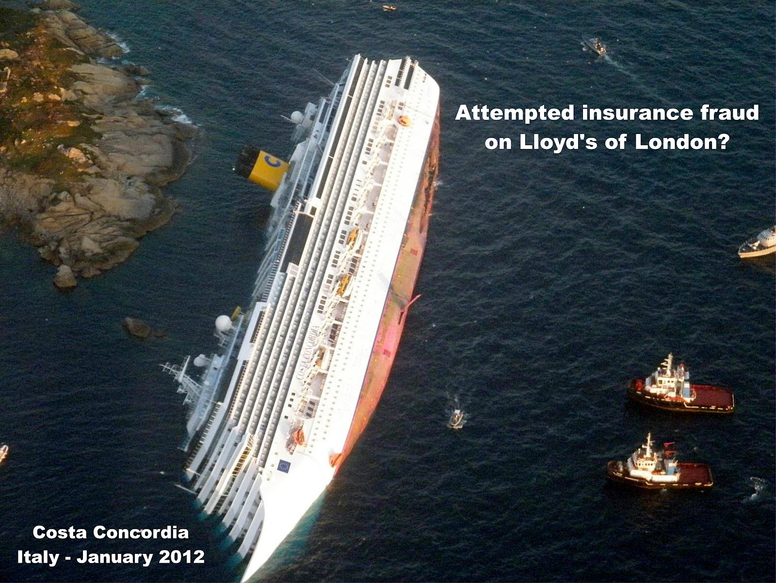 Murdoch order the destruction of the Costa Concordia out of spite