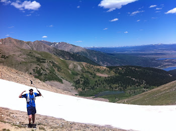 Daley makes it over the snow fields at 12,500ft