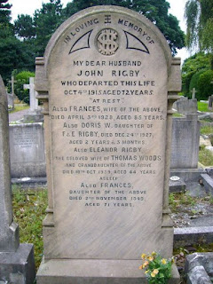 Grave of Eleanor Rigby, St Peter's Parish Church, 2008