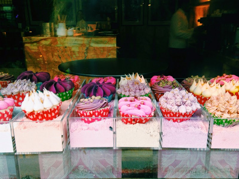 pretty cupcakes in london shop window