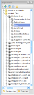 Pst Viewer Pro's folder list showing a directory with many Outlook .pst files.