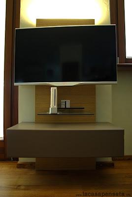porta televisore lampada led soggiorno