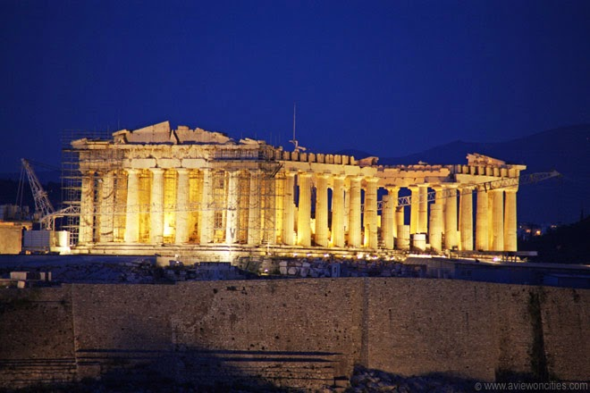 Parthenon-Athens-Greece-night