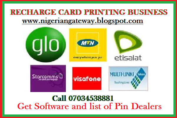 Starting a recharge card printing business nigerian gateway recharge card printing business is a very lucrative business that has turned many poor nigerians into wealthy individuals it is very easy to start and you colourmoves