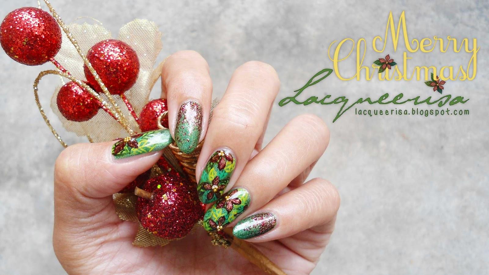 Christmas Poinsettia lacqueerisa.blogspot.com