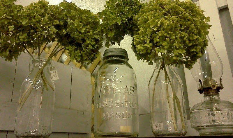 Life of a vintage lover milk jar centerpieces