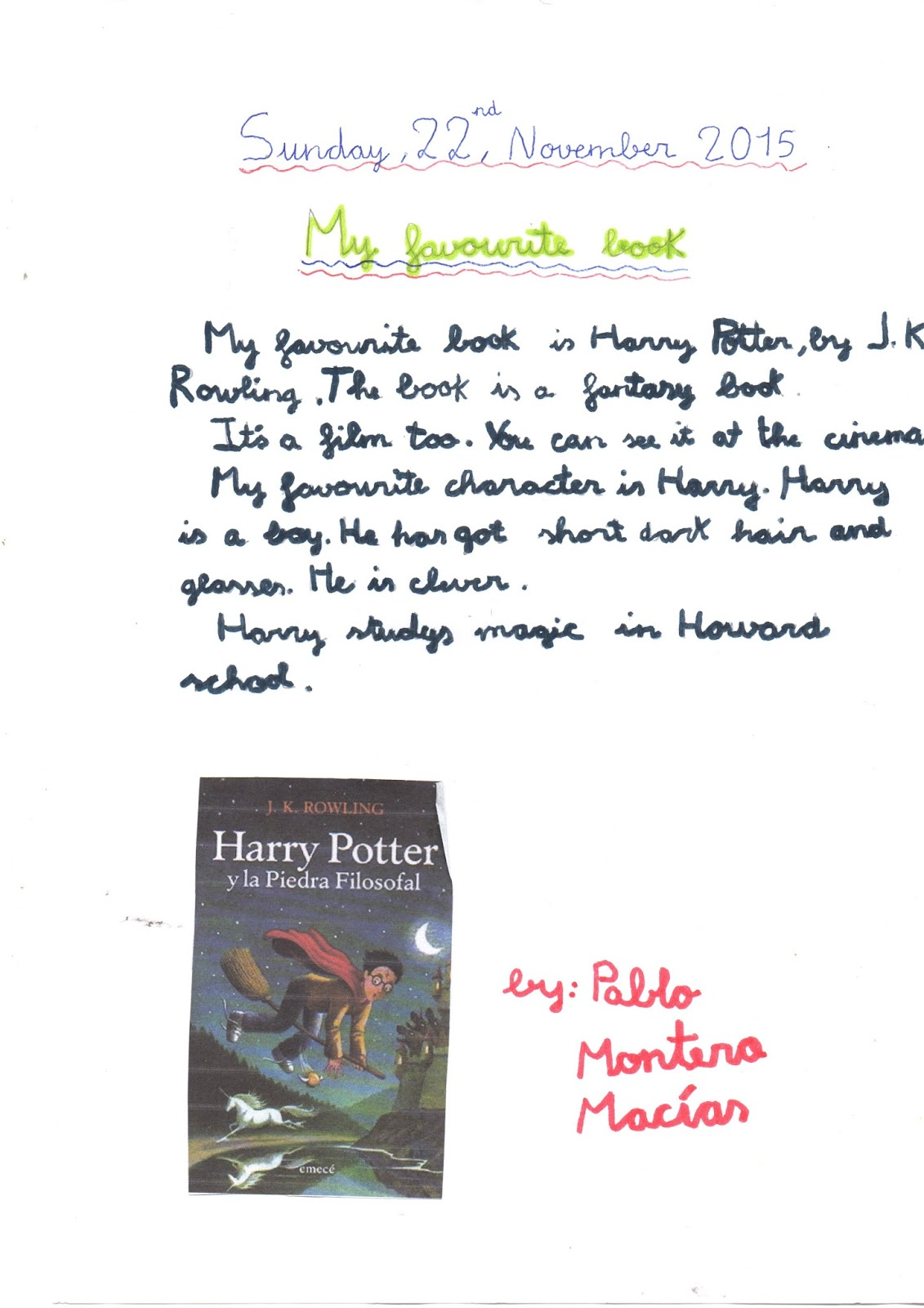 essay on my favourite book for class 3 Again my hobby amuses me it recreates my mind  i have done my essay from this web site  my favourite book.
